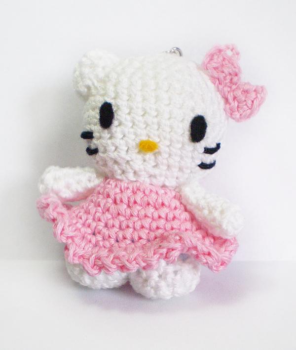 Crochet Doll Hat Pattern Free : Mini amigurumi hello kitty - keychain by Shizuru117 on ...