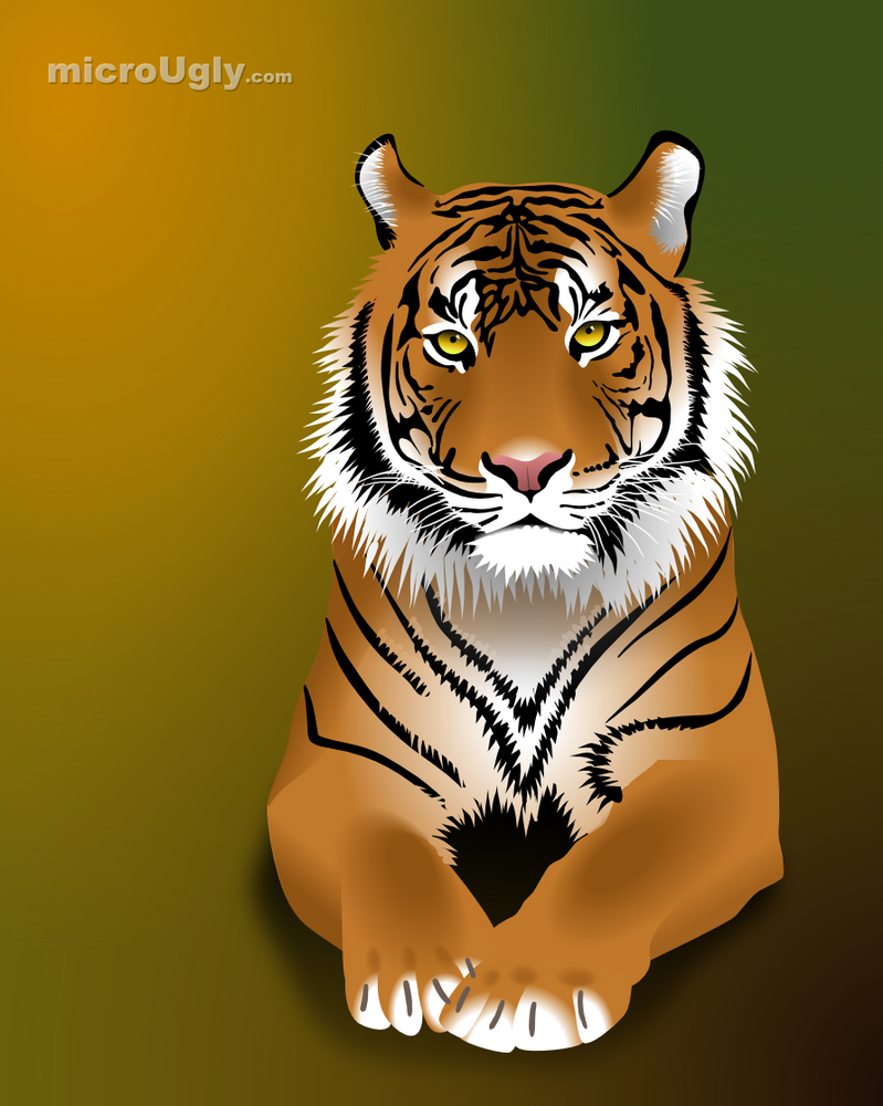 A Tiger by microUgly