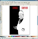 Inkscape - Homer Scarface