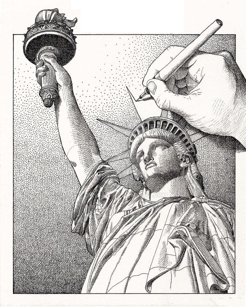 Statue of Liberty Drawing Drawing Statue of Liberty by