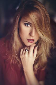 Ginger Blonde Portrait (me modeling)