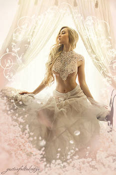 White lace boudoir