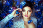 Alina and the blue butterfly by gestiefeltekatze