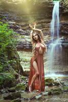 Kassandra at the waterfall II by gestiefeltekatze