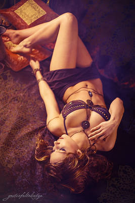 Purple and gold, harem girl