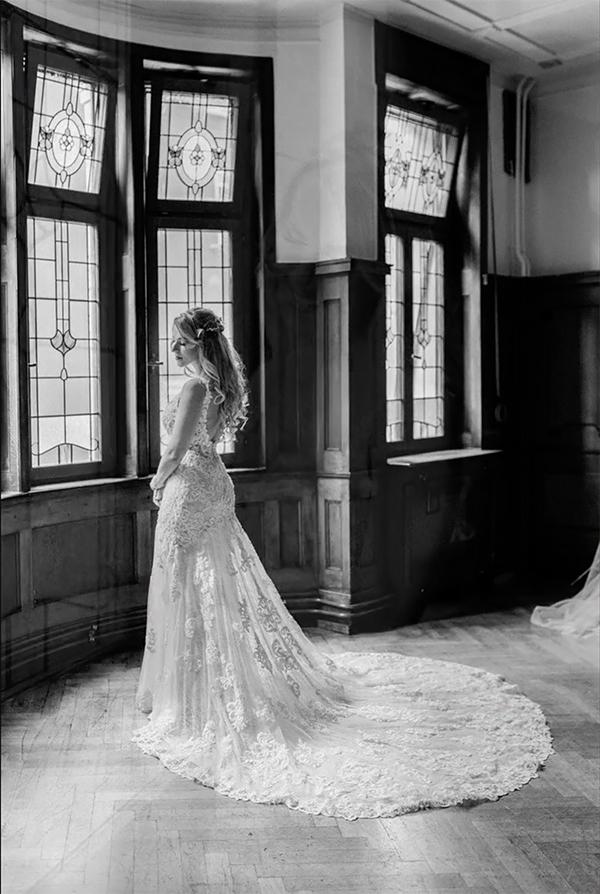 wedding dress  (me modeling) by gestiefeltekatze