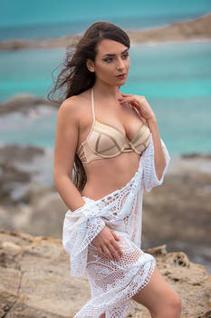 Ivana at the beach