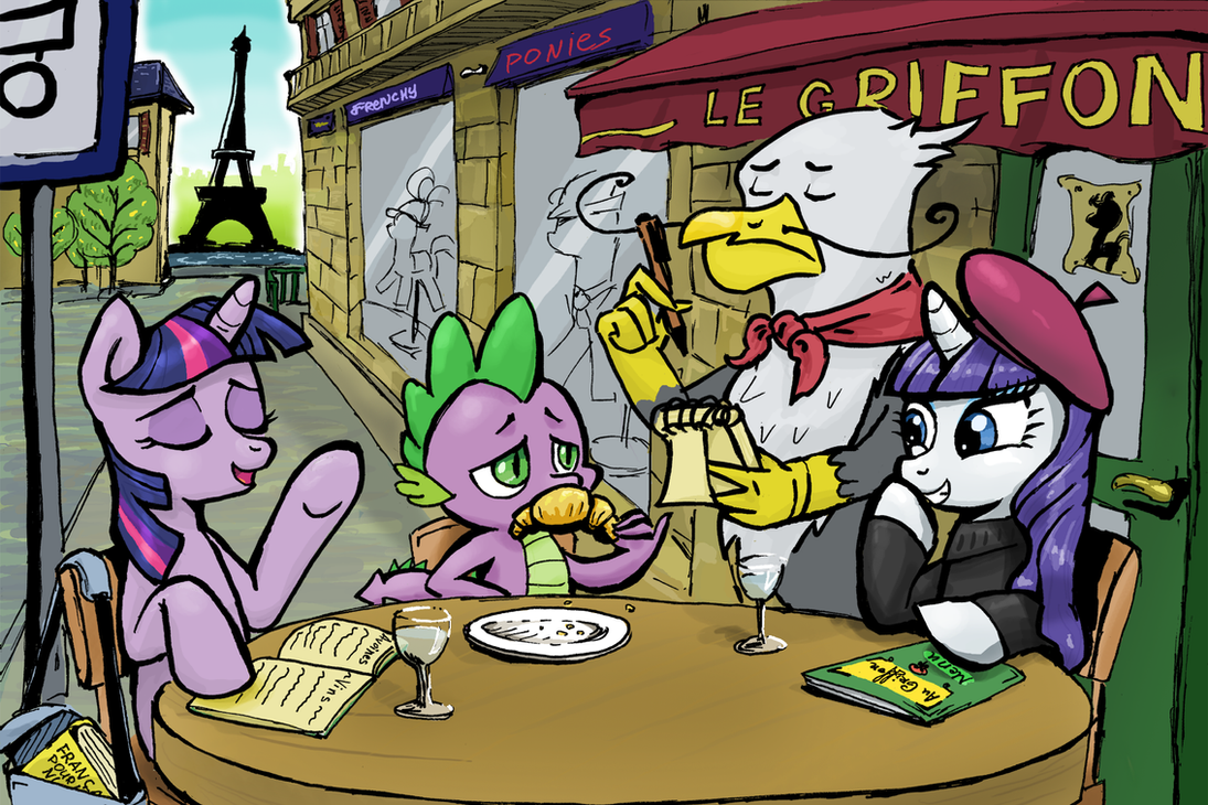 Ponies in Paris by Almaska