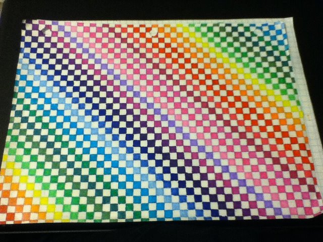 Colored graph paper unfinished by ambrelarock on deviantart for Simple designs on paper