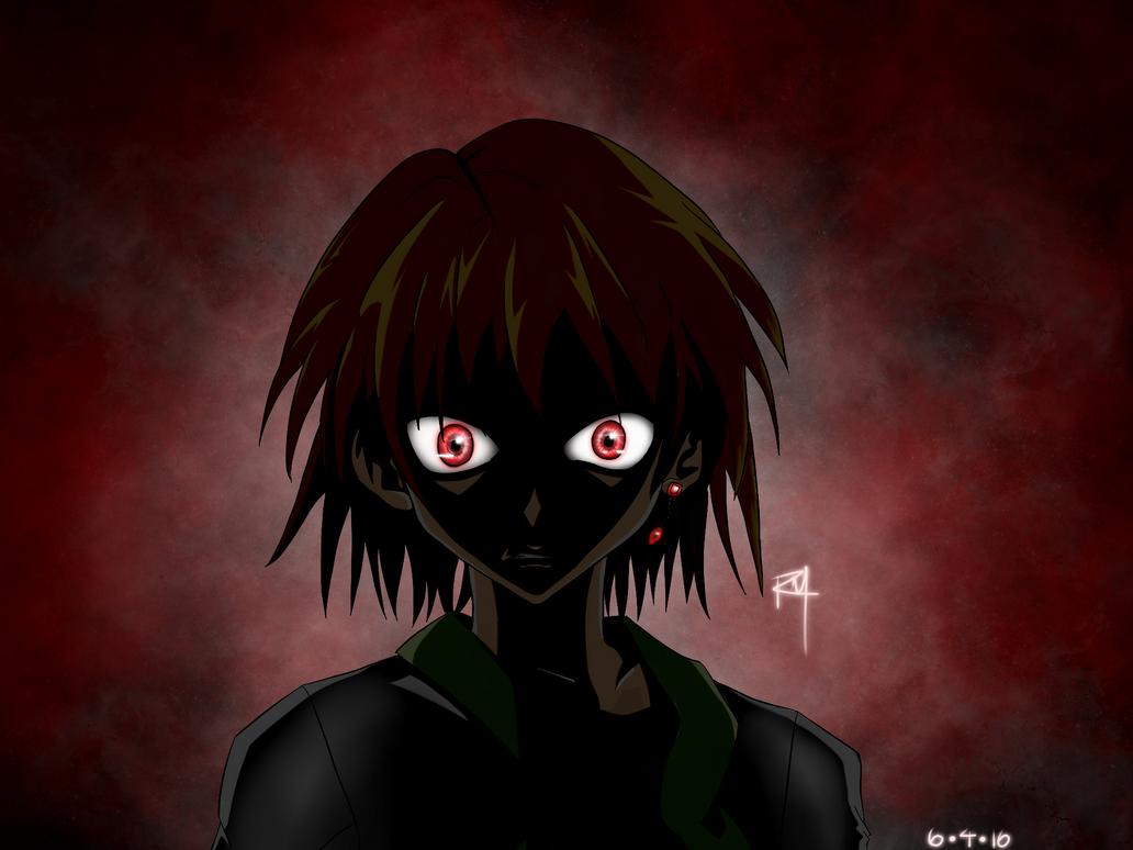 Kurapika Scarlet Eyes Dark Background By OneRoSheru