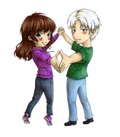 Chibi Addison x Tommy - Commission for Miss-Spazz by CatharsisGaze