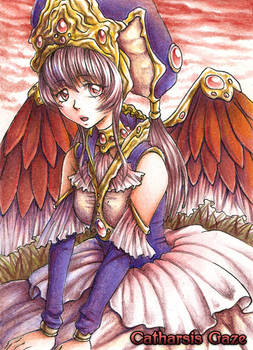 ACEO 078 Sunset Angel