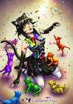 Rainbow Cat Party by CatharsisGaze