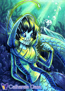 Viperfish Mermaid ACEO