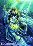 Viperfish Mermaid ACEO by CatharsisGaze