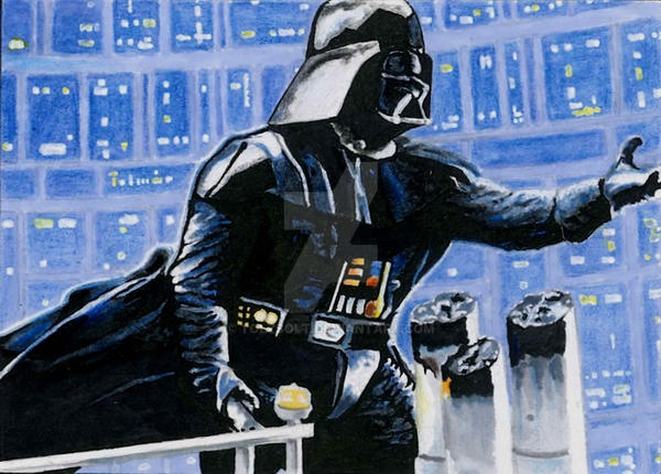 Darth Vader Sketch card by TolZsolt