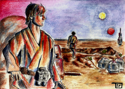 Luke - ANH sketch card commission by TolZsolt