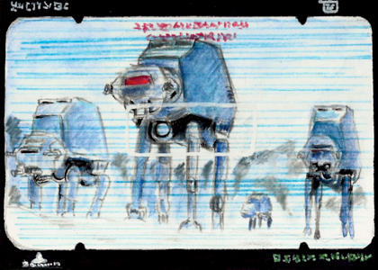 AT-ATs on Hoth Sketchcard commission