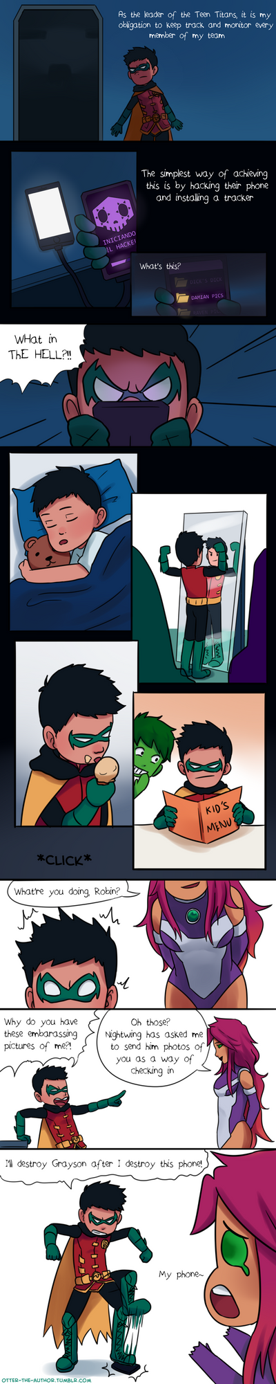 Damian the 1337 H4XX0R by OtterTheAuthor
