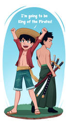 Super Sons x One Piece by OtterTheAuthor