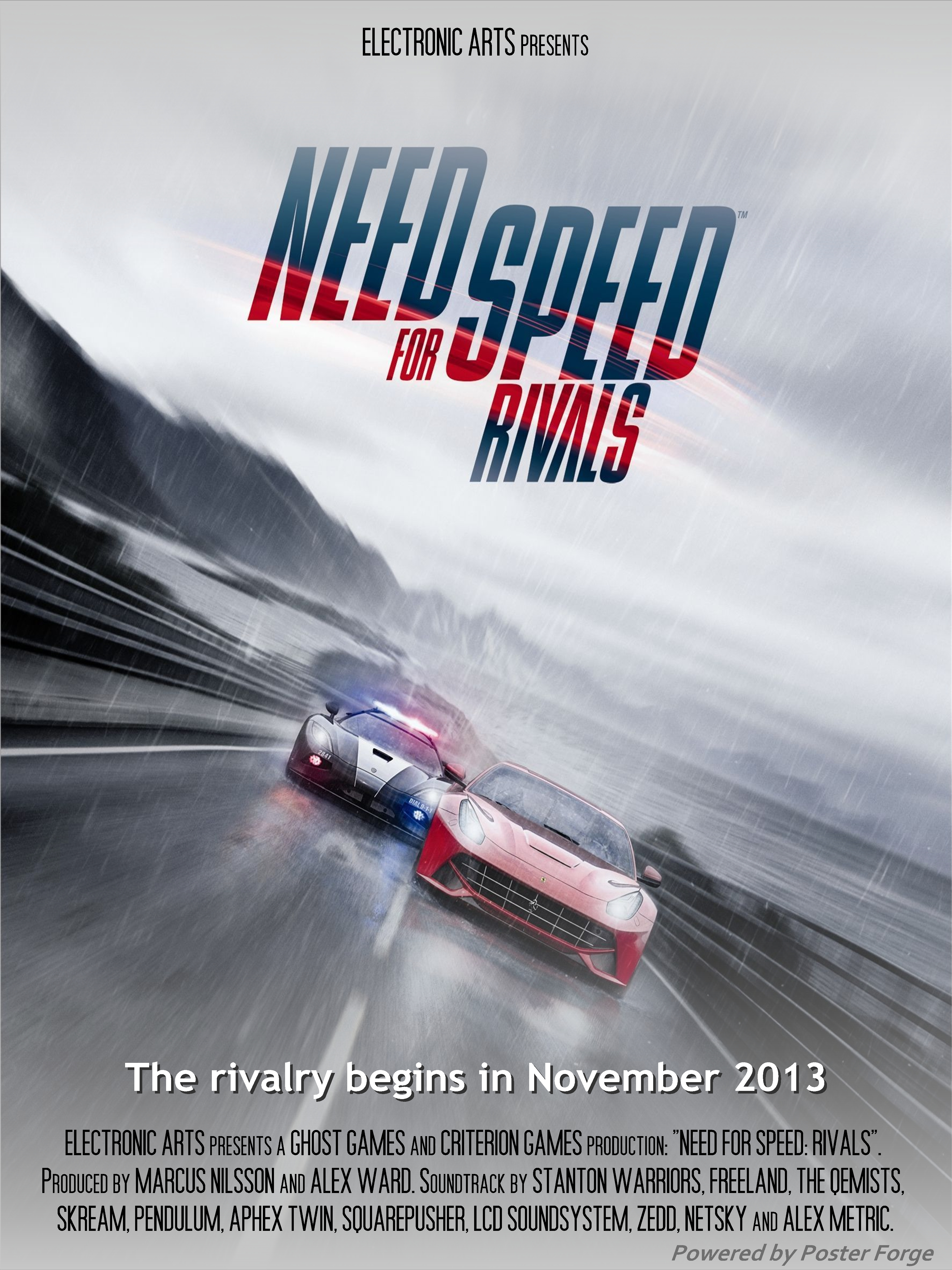 Need for speed rivals movie poster birthday gift by nick98 on