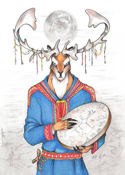 Myandash. A totem of saami