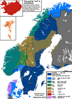 The word for 'not' in Scandinavia.