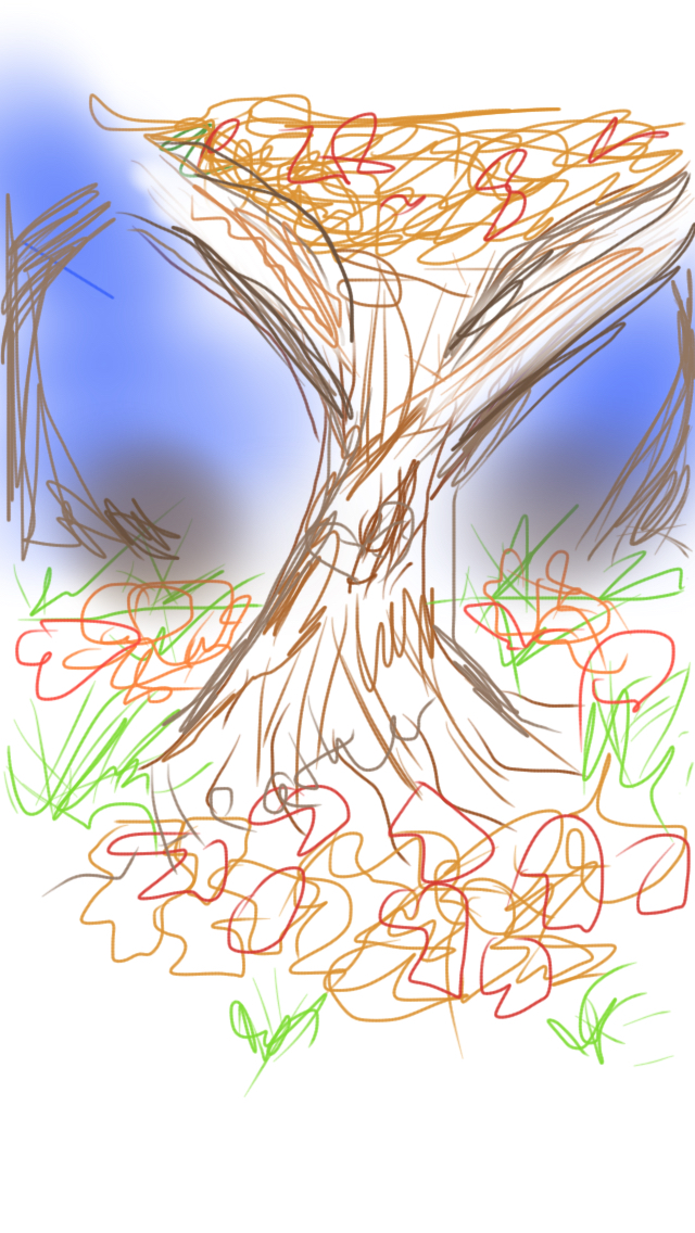 Sketch this: Tree by PokemonLoverHeather