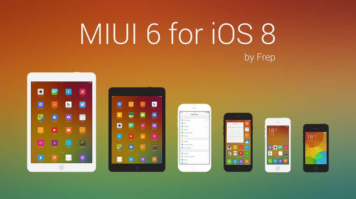 MIUI 6 for iOS 8 by Frep90