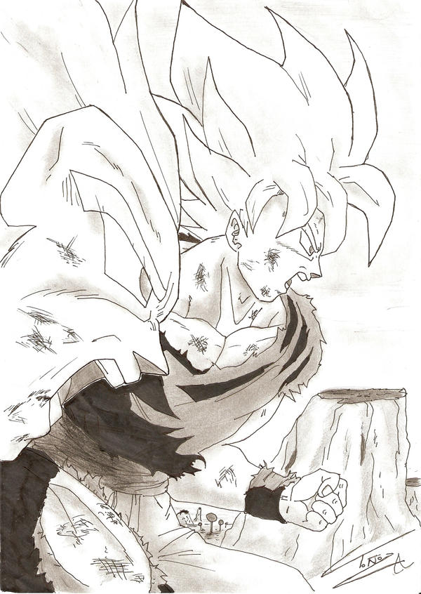 Vegeta and Goku by Armin7 on DeviantArt