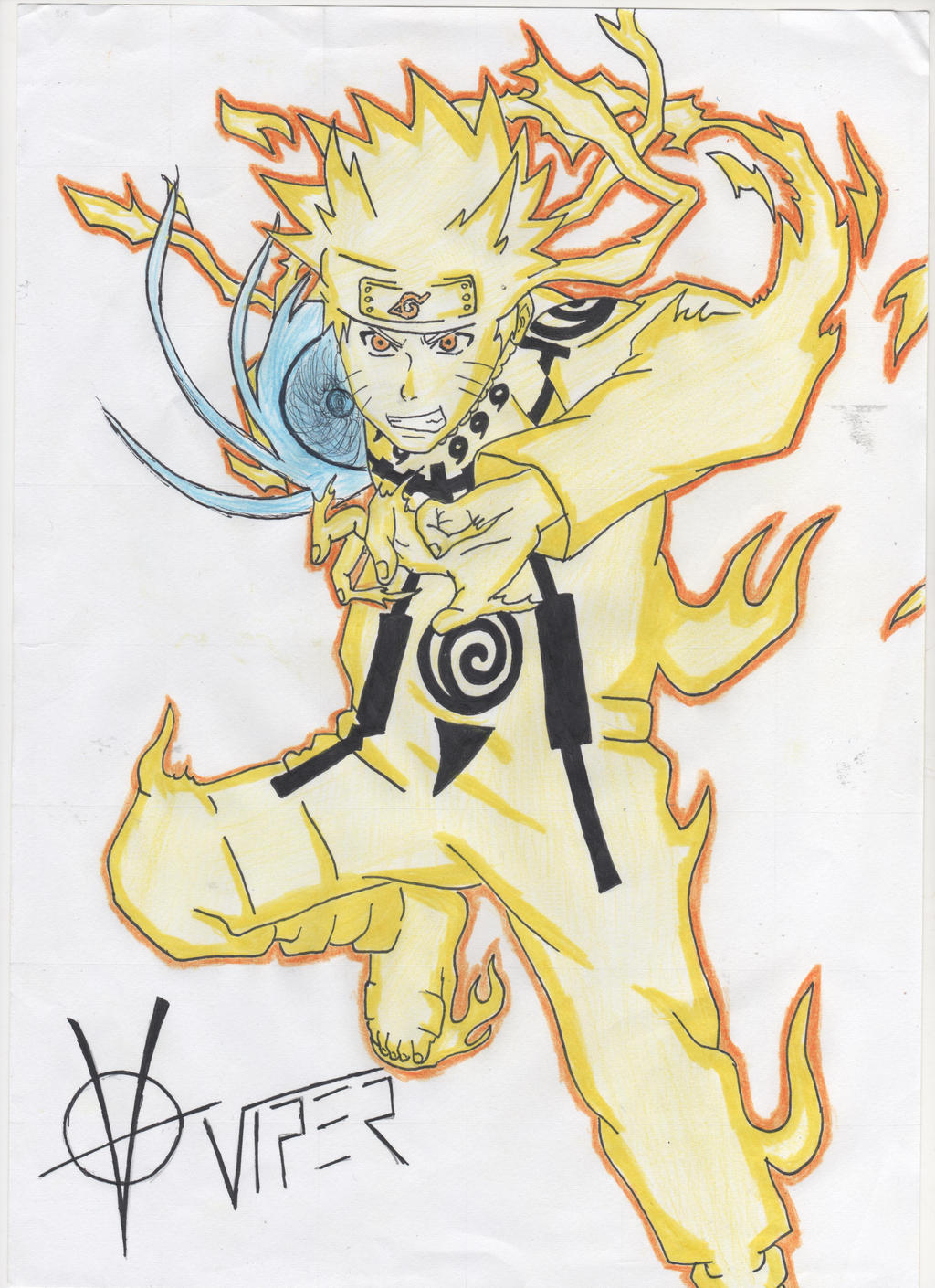Naruto Kyuubi Mode (Colored) by Viper-Assassin on DeviantArt