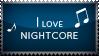 Stamp - I love Nightcore by Pokie-Punk