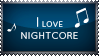 Stamp - I love Nightcore by Pokie-Punk