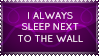 Stamp - I always sleep next to the wall by Pokie-Punk