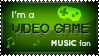 Stamp - I'm a Video Game Music fan by Pokie-Punk