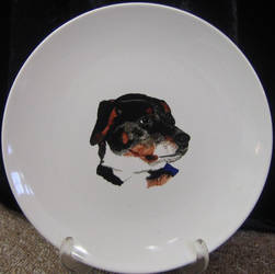 Plate dog I - commission by kaylalowes