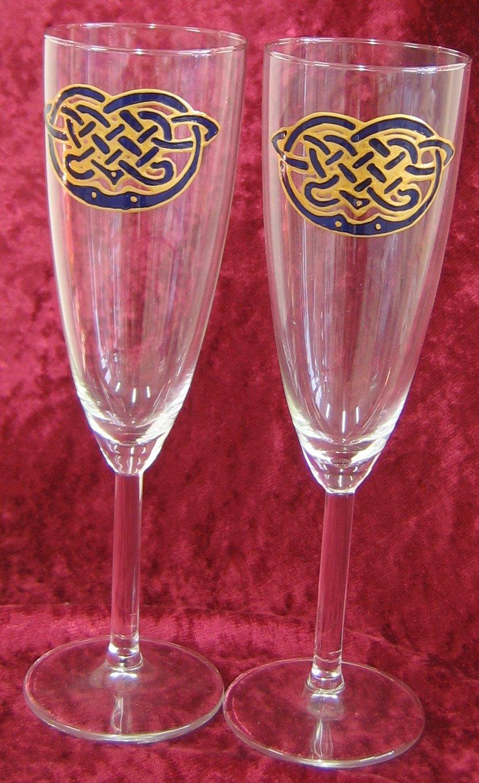 Champagne Flutes Knotwork