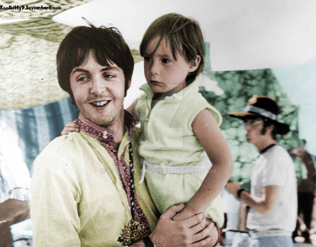 Julian And Uncle Paul McCartney 1968 By Koolkitty9