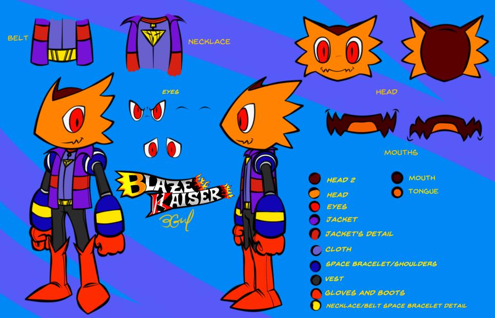 Blaze Kaizer - Art Concept and Ref. by Burn-Graphite