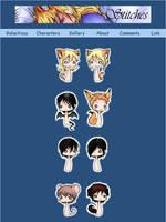 Stitch Chibi Characters by yeaka