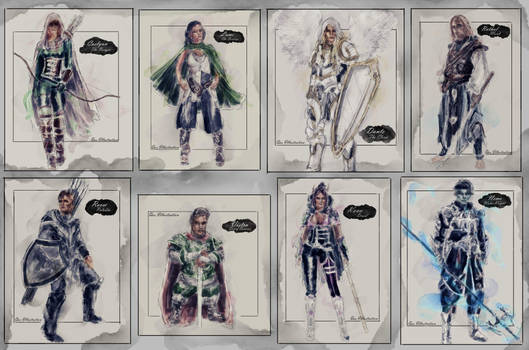 'The Scrupulous 7....Plus Nemo' - Character Cards