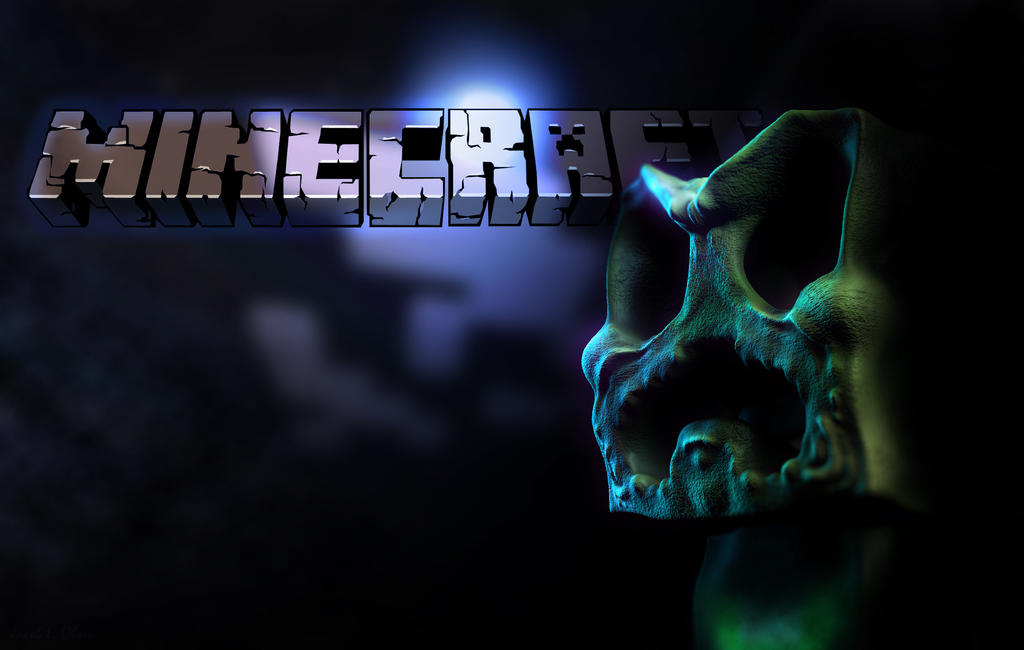 Minecraft Wallpaper Creeper By Lordubbe