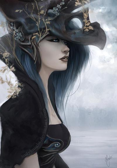 Bluish Black by milyKnight