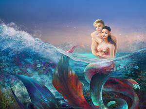 Mermaid couple commission