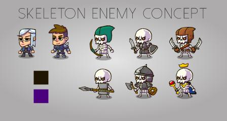 skeleton enemy concept by KirillKoshurnikov