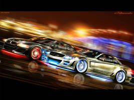 Mercedes vs BMW by brianspilner