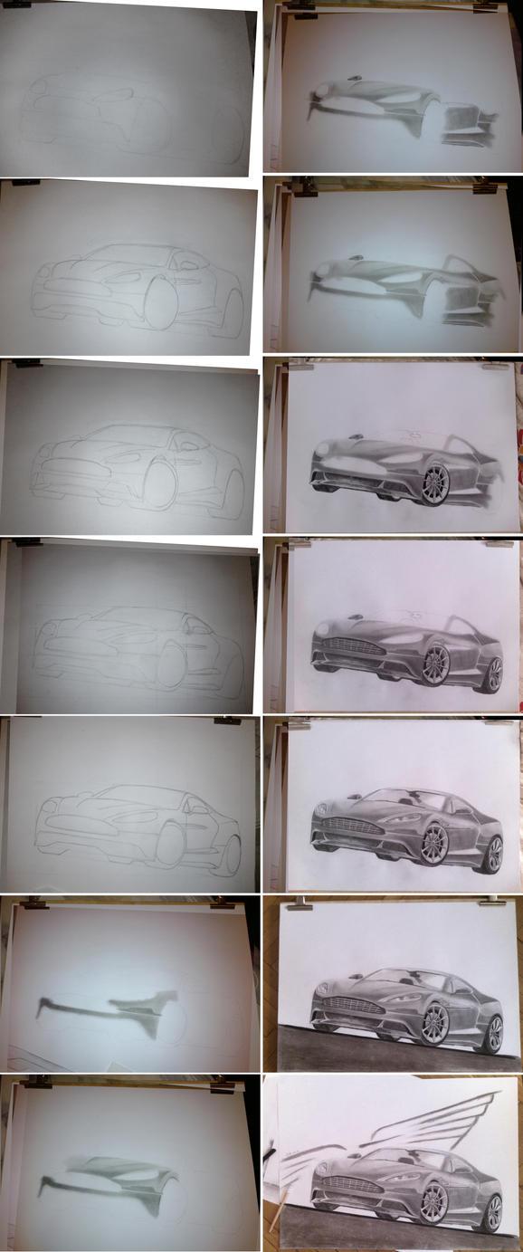 Aston Martin Draw wip by brianspilner