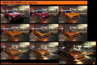 DODGE Challenger Work Progresses by brianspilner