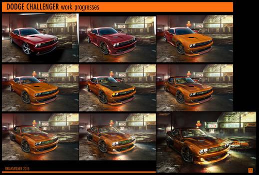 DODGE Challenger Work Progresses