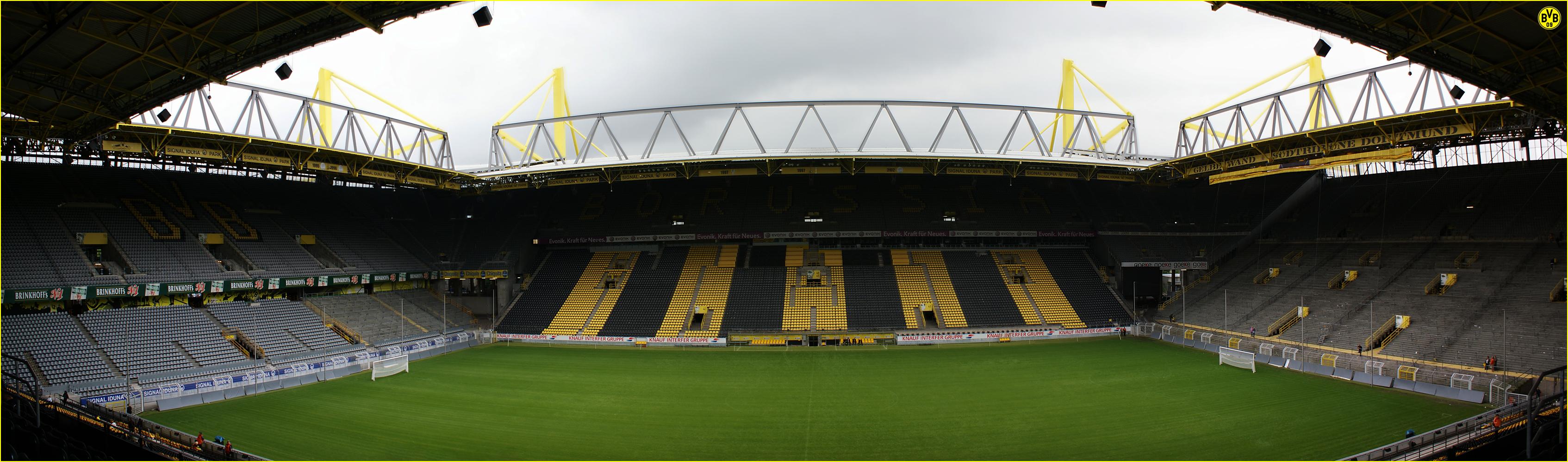 stadion bvb panorama by skywalkerdesign on deviantart. Black Bedroom Furniture Sets. Home Design Ideas